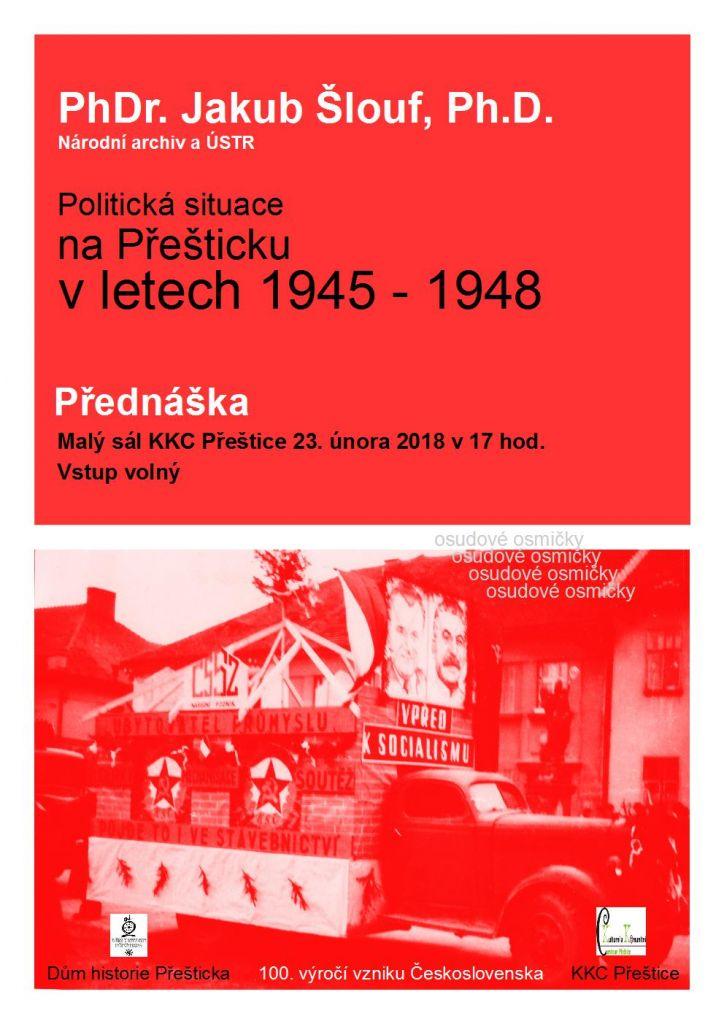 Politická situace na Přešticku v letech 1945-1948